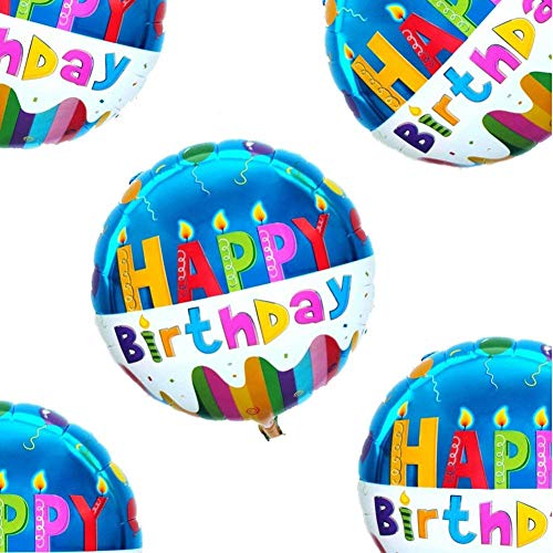 18 Happy Birthday Balloons Party Supplies Foil Mylar Helium Balloon20pcs