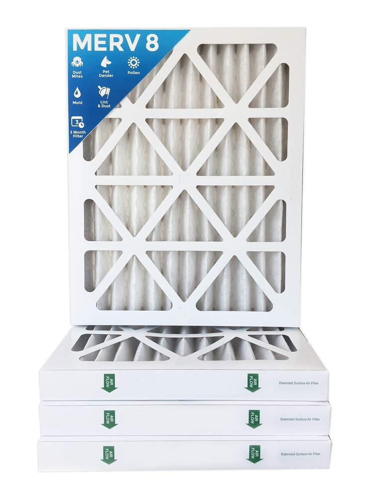 18x24x2 MERV 8 AC Furnace 2'' Inch Air Filters.  4 PACK.  (Actual Size: 17-1/2 x 23-1/2 x 1-3/4) by Filters Delivered