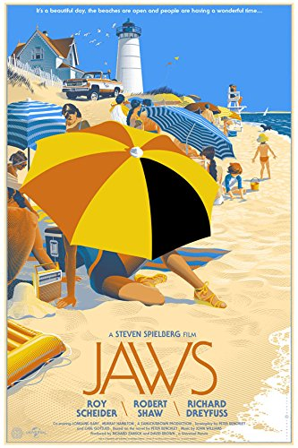 Old Tin Sign Jaws s Classic Vintage Movie Poster MADE IN THE USA by Gatsbe Exchange