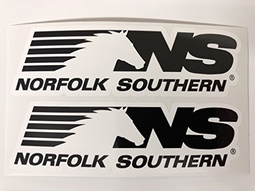 2 Norfolk Southern Decals by SBDdecals.com (Southern Norfolk Hat)