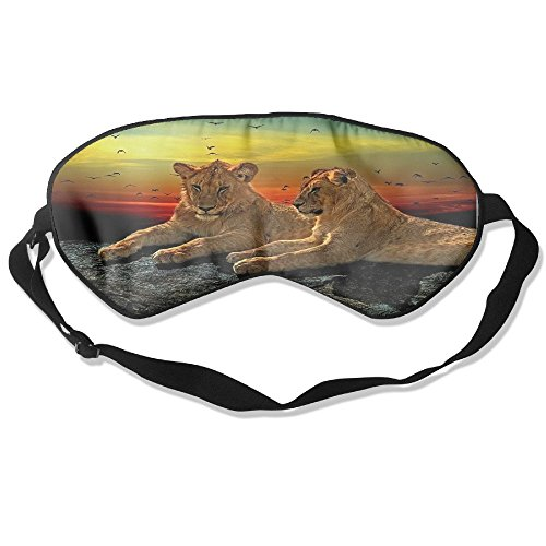 Animal Predator Cat's Pure Silk Sleeping Mask Reusable Cold To Improve Sleep Relief Edema Eyestrain Fatigue Fatigue Headache And Tension Best Men And Women Eye (Best Predator Mask)