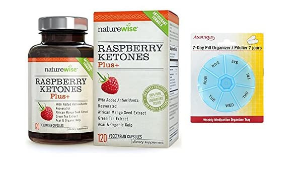 Amazon.com: NatureWise frambuesa cetonas más avanzada antioxidante mezcla con té verde para bajar de peso, conteo de 120 con gratis 7 días plástico píldora ...