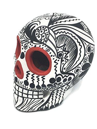 Hand-Painted Ceramic Sugar Skull ~ Made in Mexico ~ Day of The Dead ~ Decor ~ Calavera ~ Dia de Los Muertos ~ Halloween 3