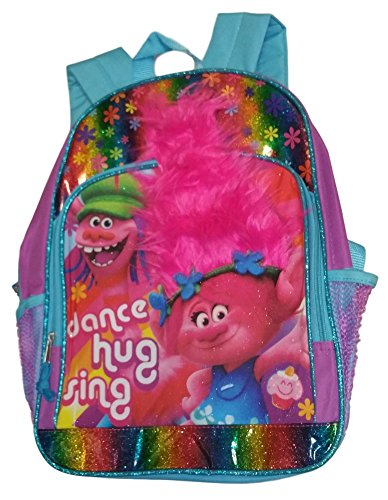 dreamworks-trolls-glittery-dance-hug-sing-backpack-with-hair-accent-16-inch