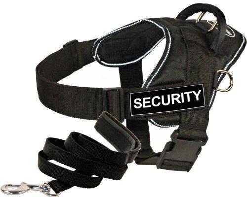 Dean & Tyler DT Fun Works Harness 6-Feet Padded Puppy Leash, Security, X-Large, Black by Dean & Tyler