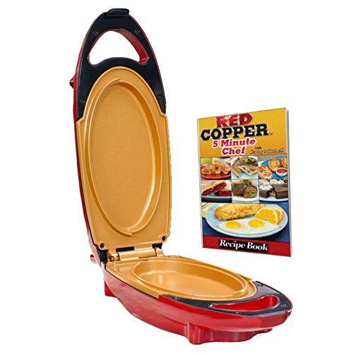 Red Copper 5 Minute Chef By Bulbhead Includes Recipe Guide  1 Pack