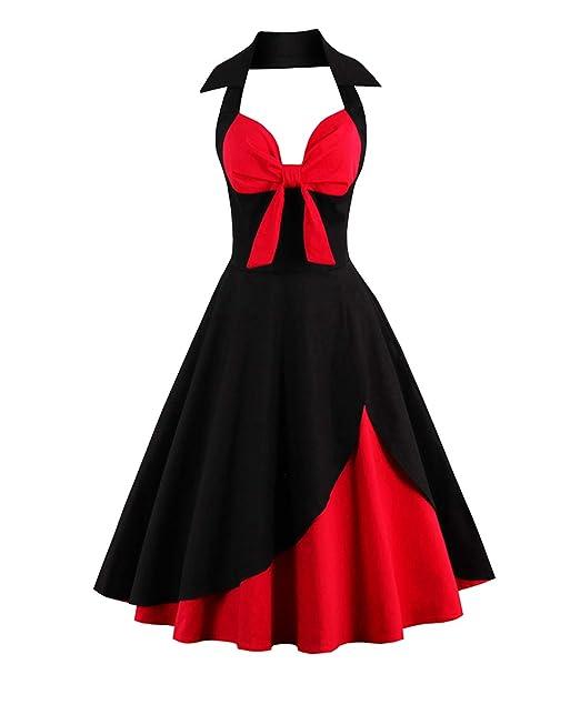 7d539248c ZAFUL Mujer Vintage Vestidos Años 50s Audrey Hepburn Vestido de ...