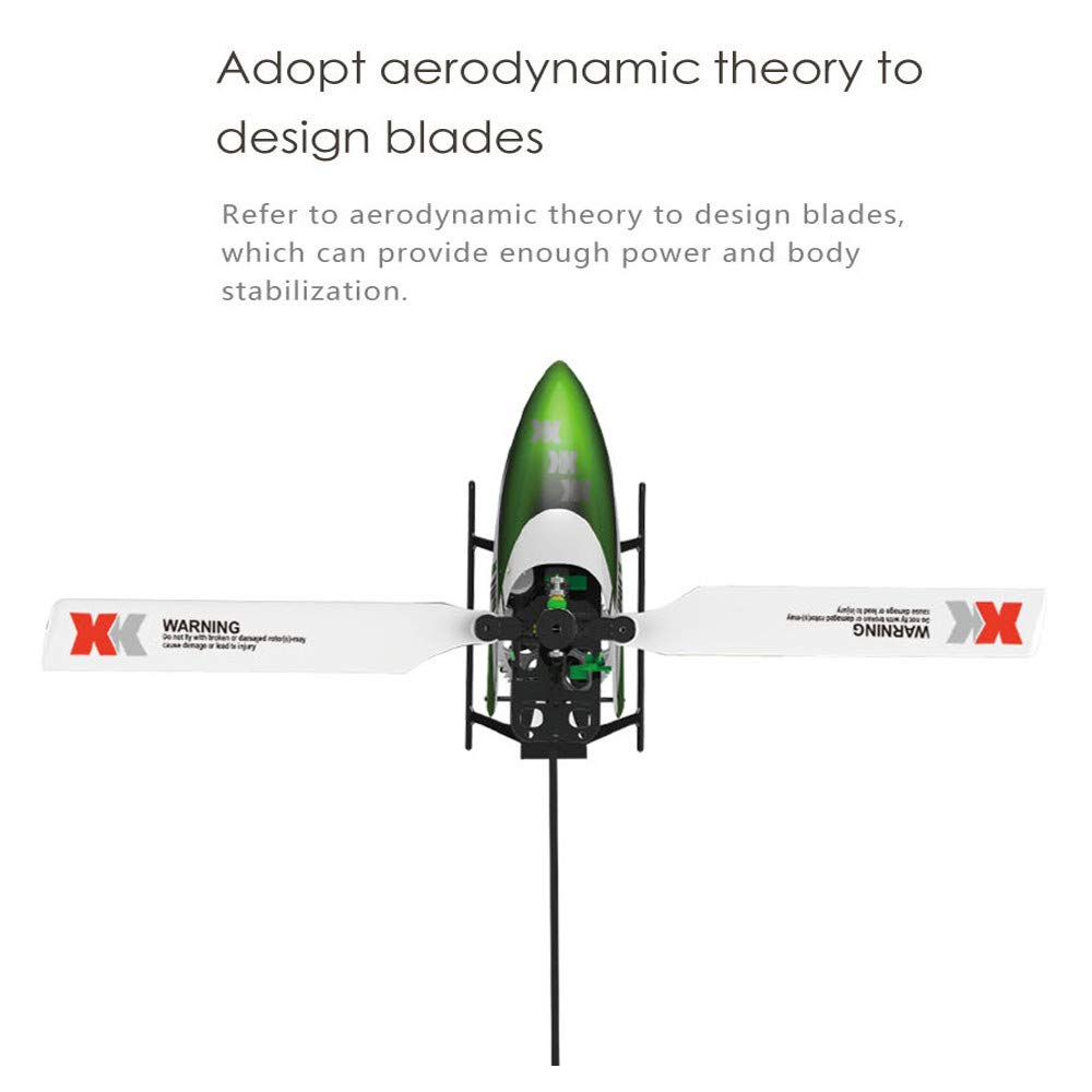 Lanspo_Drone WLTOY XK K100 6CH 3D 6G System RTF RC Helikopter eingebauter Gyro super Stabiler Flug Fernbedienungen Quadcopter Rc für Flugzeuge Metall Gyro (Grün)