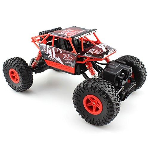 GearBest Q20 1/18 Échelle 2.4G RC Voiture Tout Terrain Télécommande avec 4WD Hors Route Jouet Buggy Télécommande Rouge