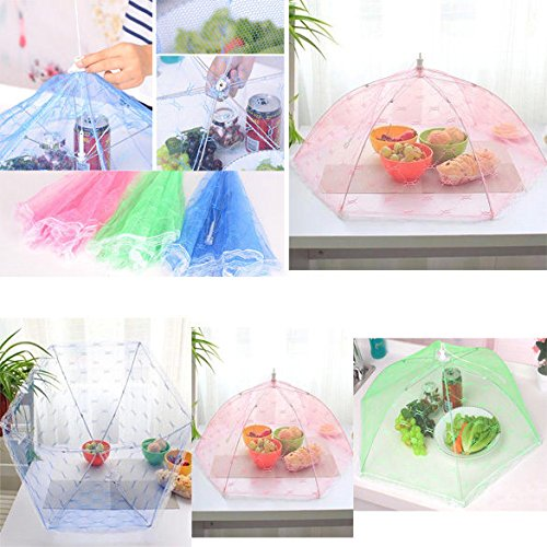 XENO-Foldable Food Umbrella Cover Fly Wasp Insect Net Picnic Kitchen Party Mesh (The Church Dallas Halloween)