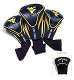 NCAA Paquete de 3 fundas para palos de golf, West Virginia Mountaineers, Una talla