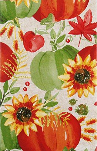 Autumn Harvest Collection Vinyl Flannel Back Tablecloth (60