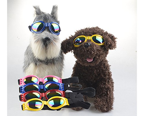 Petbob Pet Sunglasses,Dog Goggles,Fashionable Waterproof Foldable UV Anti-Scratch Pet Glasses Eye Wear Protection for Travel, Skiing,Surfing,Driving - Dog Large Sunglasses