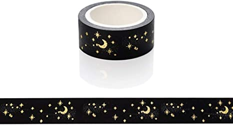 New Pack of 5 Glitter Tape Decorative Design Sticky Paper Masking Tape Adhesive