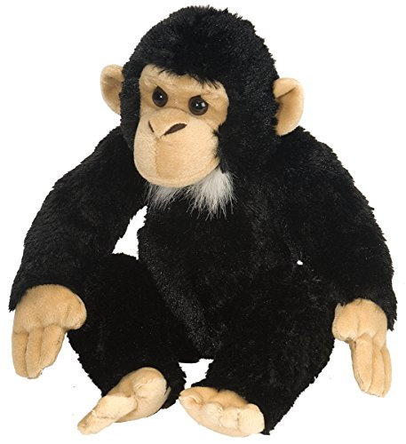 Wild Republic Chimp Plush, Stuffed Animal, Plush Toy, Gifts for Kids, Cuddlekins 12 -