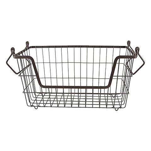 DII Stackable, Convenient Metal Storage Bin For Office, Bedroom, Kitchen, Closet, & Everyday Storage Needs, Bronze - Small