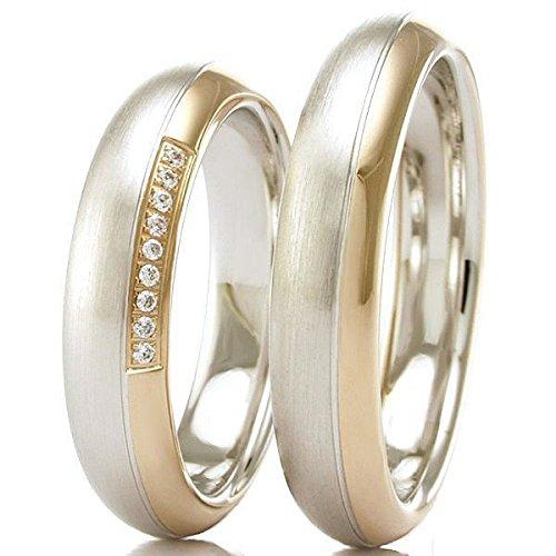 Anillos de boda 333 / - oro blanco oro rosa R-10-50722-