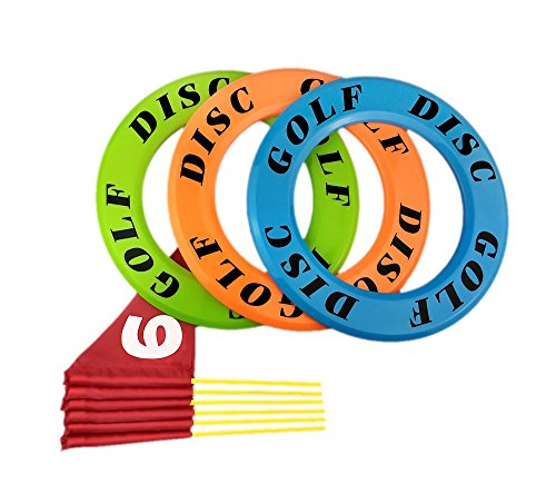 Nuanmu Frisbee Rings Disc Golf Flying Ring Outdoors Game Straight Get Outside & Play by Nuanmu