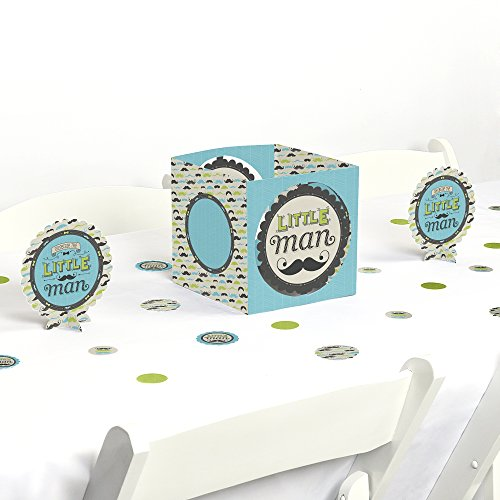 Dashing Little Man Mustache Party - Baby Shower or Birthday Party Centerpiece & Table Decoration (Little Man Baby Shower Centerpieces)