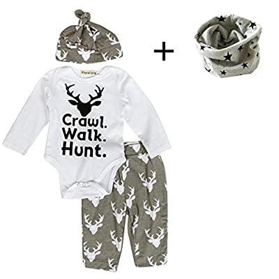 FEITONG Newborn Infant Baby Boy's Print Romper Tops+Long Pants +Hat by FEITONG that we recomend personally.