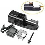 Cigarette Maker Rolling Machine, Electric Automatic Injector DIY Tobacco Roller (Black)