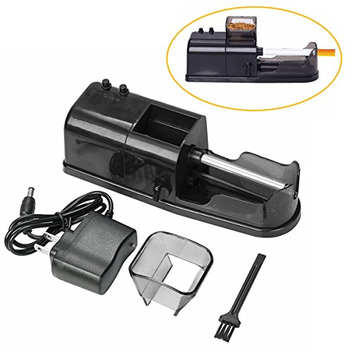 Cigarette Maker Rolling Machine, Electric Automatic Injector DIY Tobacco Roller (Black) by Funtoy