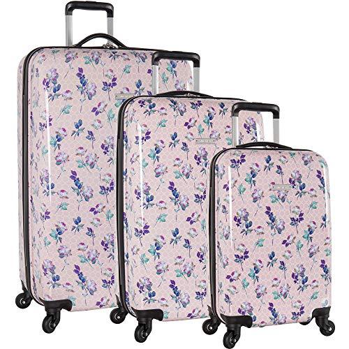 Nine West 3 Piece Hardside Spinner Luggage Suitcase Set, 9 Floral Pastel (Set West Nine Luggage)