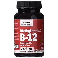 Jarrow Formulas Methylcobalamin (Methyl B12), Compatible con Células Cerebrales, 5000 mcg, 60 Pastillas