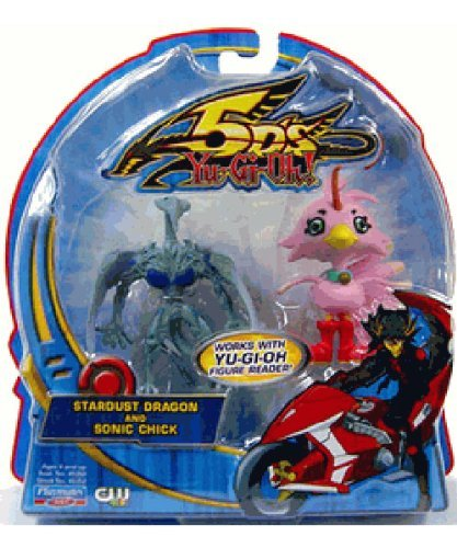 YuGiOh 5D's Playmates 2.5 Inch Mini Figure 2-Pack Stardust Dragon and Sonic - Chick Dragon