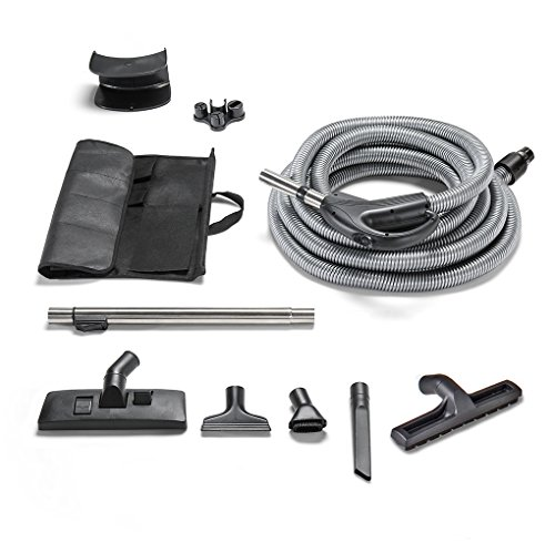 GV 30 Foot Universal Central Vacuum Replacement Hose and Tools with Two Way Switch -