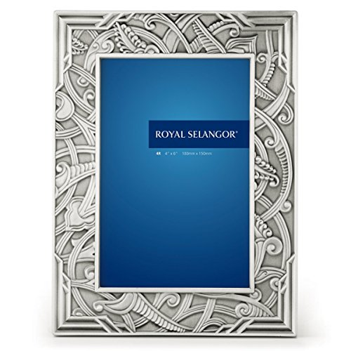 Royal Selangor Hand Finished Atiya Collection Pewter Photo Frame (4R) by Royal Selangor
