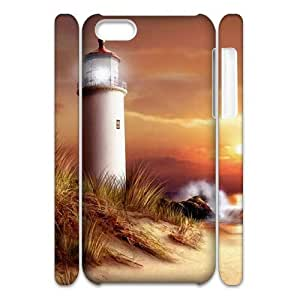 QSWHXN Customized 3D case Lighthouse for iPhone 5C