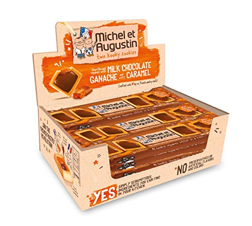 Michel et Augustin Chocolate French Cookie Squares | Milk Chocolate Caramel, 18 ()