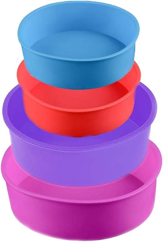 Moldes de silicona para tartas, 4 unidades, redondos, para tartas ...