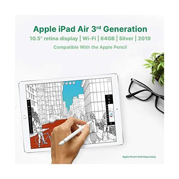 "Apple iPad Air | 10.5"" | 3rd GEN | WI-FI | 64GB | Silver | 2019 | (Renewed) 4"