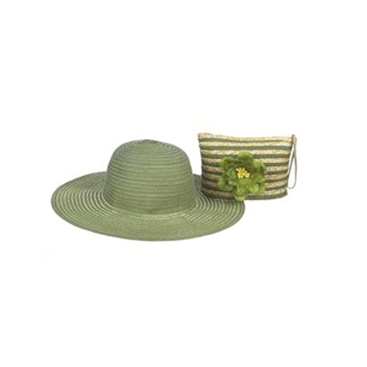 303781b8e Ganz - Green Floppy Hat/ Wristlet ER26446 at Amazon Women's Clothing ...