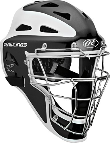 Rawlings  Adult Pro Preferred Hockey Style Catcher's Helmet, Matte Black, 7 1/8 - 7 3/4
