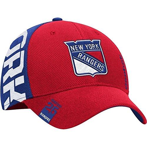 Reebok Men's 2016 NHL Draft Flex Fit Hat (S/M, M671 New York Rangers) (New York Rangers Hat Reebok)