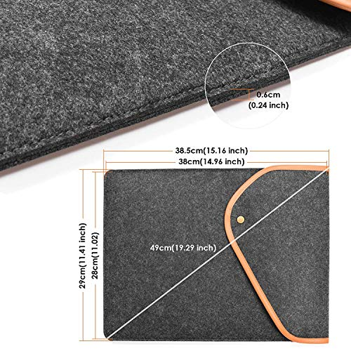 For Huion L4S LED Light Box Cover Case, Kenting Superior Wool Liner Sleeve Case Protective Cover Pouch Carrying Bag for All-New Tracing Drawing Board, Portable Laptop