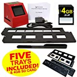 Wolverine F2D8 8 MP 35mm Slides and Negatives to Digital Image Converter (Includes 4GB SD Card and 5 Total Trays: 4 Silde Trays and 1 Negative Film Tray) 110V-220V, Best Gadgets