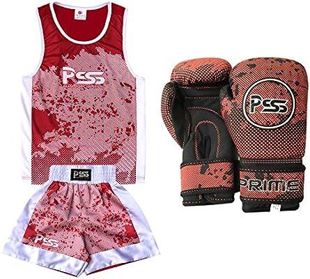 Prime Leather Juego de 2 Piezas de Uniformes de Boxeo para niños con diseño  de sublimación + Guantes de Boxeo con Carcasa Suave 1019. Cargando imágenes. bf601a80dd6af