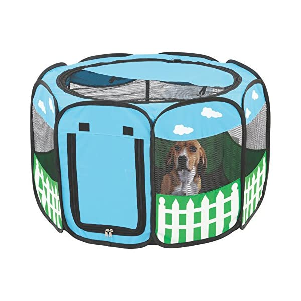 (Large) – Pet Portable Foldable Play Pen Exercise Kennel Dogs Cats Indoor/outdoor Tent For Click on image for further info. 5