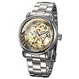 Best Golden Watches - GuTe IK Unique Golden Dial Automatic Mechanical Watch Review