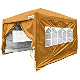 Quictent Silvox 8×8′ EZ Pop Up Canopy Tent Instant Canopy with Carry Bag 100% Waterproof-7 Colors (Brown) For Sale