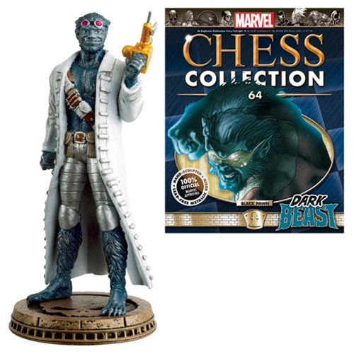 Marvel Dark Beast Black Pawn Chess Piece with Collector Magazine (Chess Board Eaglemoss)