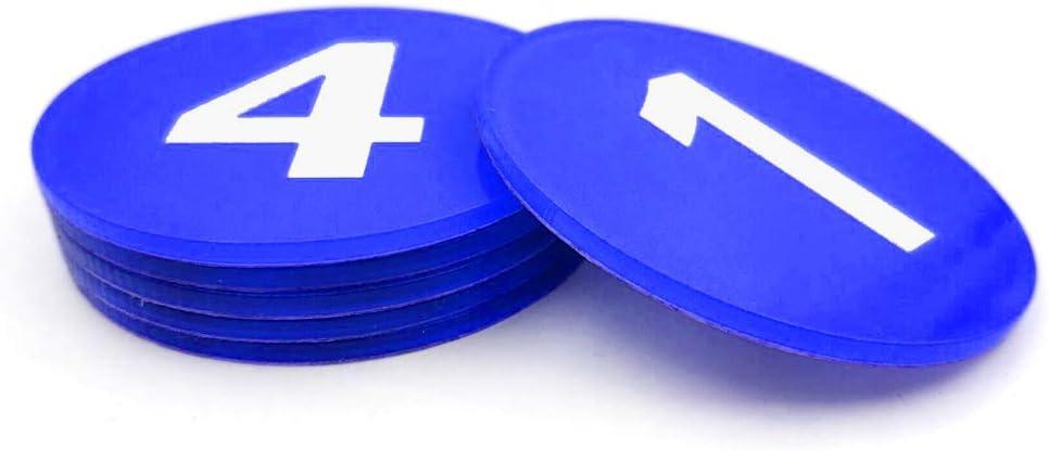 aspire Locker Signs acr/ílico Azul 31to60 Placa autoadhesiva acr/ílico