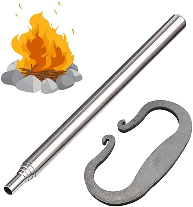 Portable Stainless steel Blow torch Camping Blowpipe tube Fire Starter tool D0M1