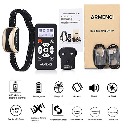 Rechargeable Dog Training Collar with Remote, 800 Yards Rainproof Anti Stop...