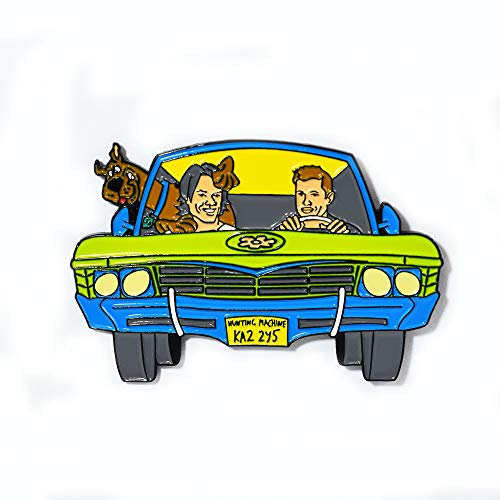 (Sam Dean and Scooby Supernatural Series Hunting Machine Pendant Lapel Hat Pin)