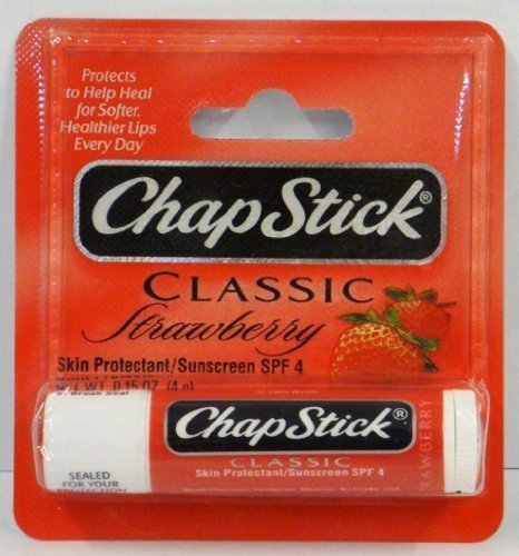 ChapStick Classic Strawberry Skin Protectant / Sunscreen SPF